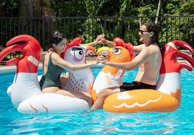 Inflatable Chicken Fight