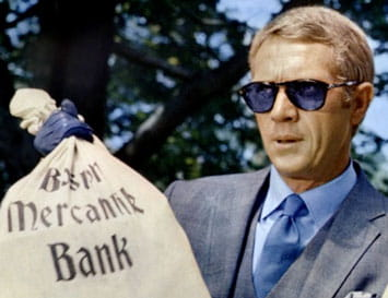 Steve McQueen wearing Persol Sunglasses in the Thomas Crown Affair