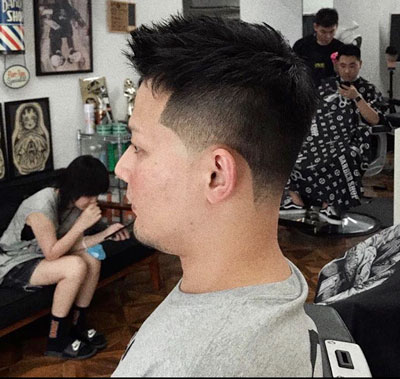 example of a taper fade haircut