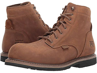Brown Timberland work boots