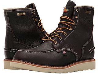 Thorogood black moc toe boots