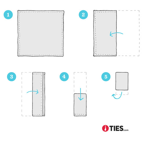 How to Fold a Square Pocket Square Instructions