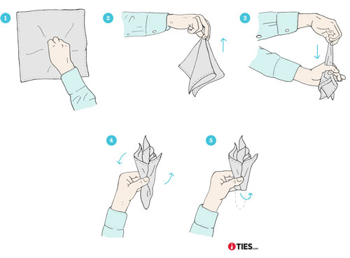 How to Fold a Puff Pocket Square Instructions