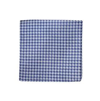 Blue houndstooth pocket square