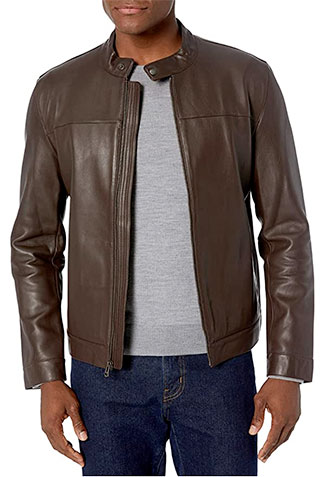 Brown Cole Haan leather jacket