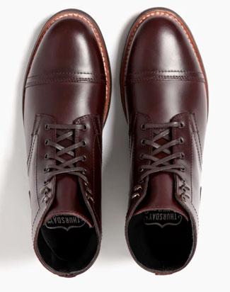 The toe shape of Thursday Boot Company's Captain boots