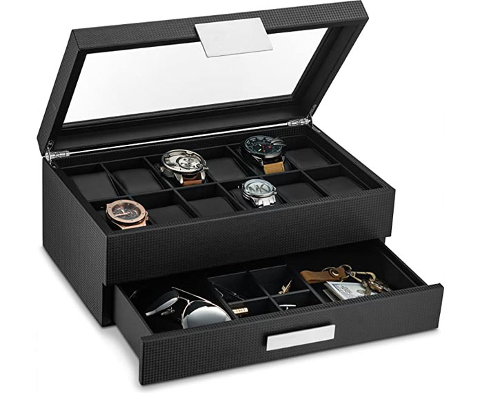 Glenor Co mens watch box