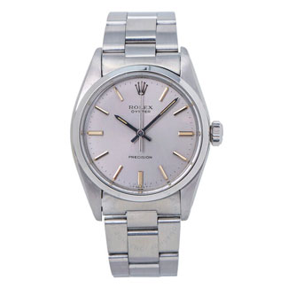 Rolex Oyster Precision Hand Wind Silver Dial