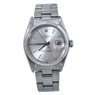 Rolex Oyster Perpetual Date Silver Dial 1500