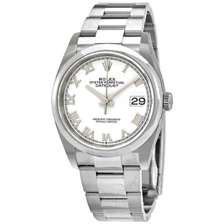 Rolex Datejust 36 Automatic White Dial