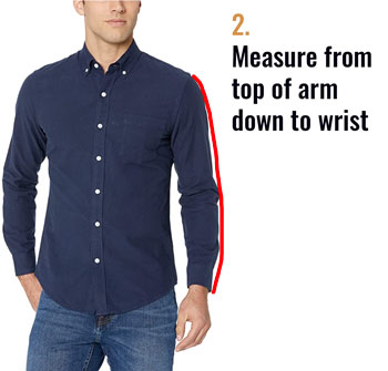 Measuring from the shoulder to the wrist