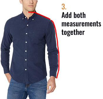 The two key measurements for a shirt sleeve
