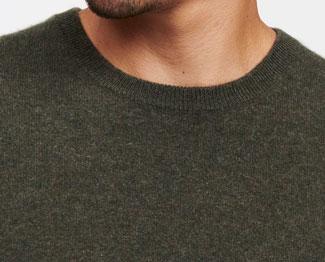 The Naadam Cashmere Essential Sweater neck hole