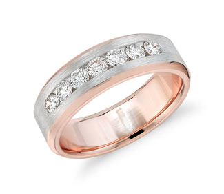 Two-Tone Channel-Set Diamond Ring