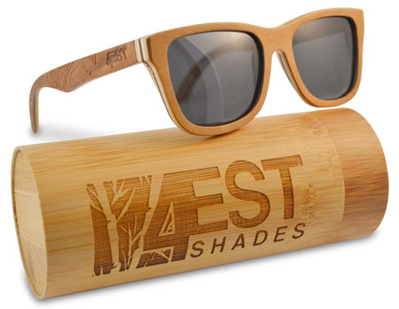 4EST Shades - Maple Wood Wayfarer Sunglasses
