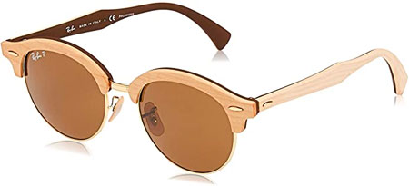 Ray-Ban Rb4246m Clubhouse Wood Round Sunglasses
