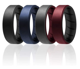 ROQ Silicone Rings for Men
