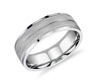Double Textured Inlay Band