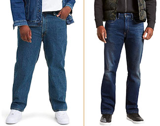 Levis 505 and 550 jeans