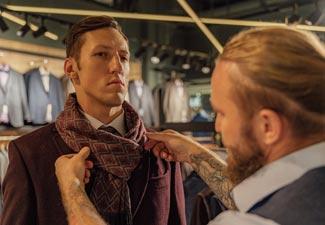 Personal stylist folding scarf